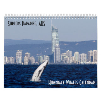 Humpback Whale Surfers Paradise Pacific Ocean Wall Calendars