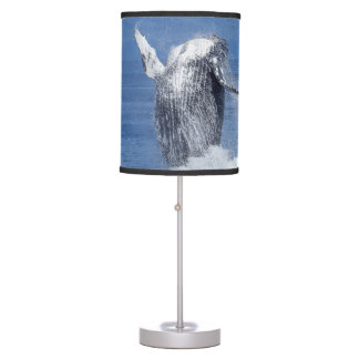 Humpback whale table lamp