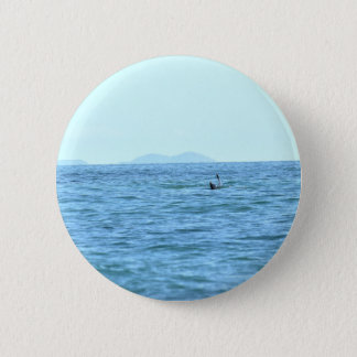 HUMPBACK WHALE TAIL MACKAY QUEENSLAND AUSTRALIA 2 INCH ROUND BUTTON