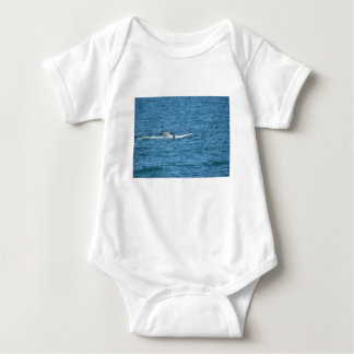 HUMPBACK WHALE TAIL MACKAY QUEENSLAND AUSTRALIA BABY BODYSUIT