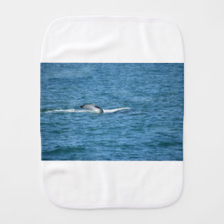 HUMPBACK WHALE TAIL MACKAY QUEENSLAND AUSTRALIA BURP CLOTH
