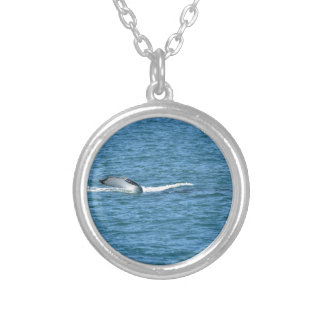 HUMPBACK WHALE TAIL MACKAY QUEENSLAND AUSTRALIA SILVER PLATED NECKLACE