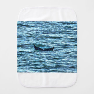 HUMPBACK WHALE TAIL QUEENSLAND AUSTRALIA ART BURP CLOTH