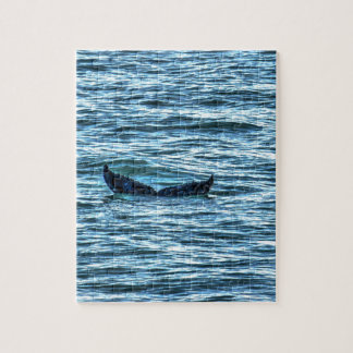 HUMPBACK WHALE TAIL QUEENSLAND AUSTRALIA ART JIGSAW PUZZLE