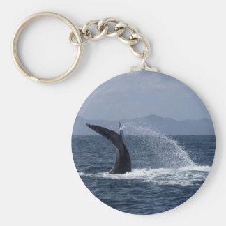Humpback Whale Tail Splash Keychain