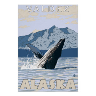 Humpback Whale - Valdez, Alaska Poster