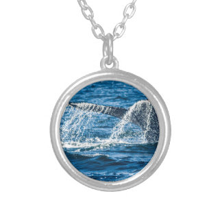 Humpback Whale Washington State Silver Plated Necklace
