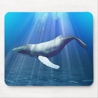 Humpback Whale Watercolor Mouse Pad