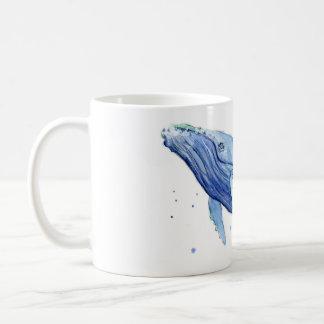Humpback Whale Watercolor Painting Ceramic Mug