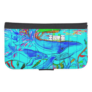 humpback whales folio planner phone wallets