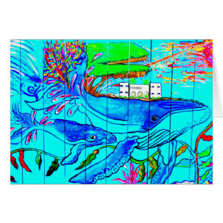 humpback whales greeting card