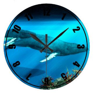Humpback Whales Wall Clocks