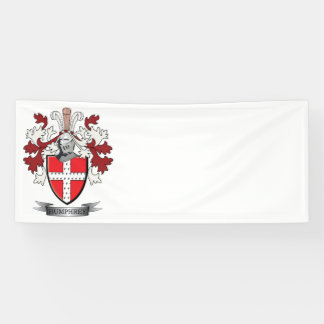Humphrey Family Crest Coat of Arms Banner