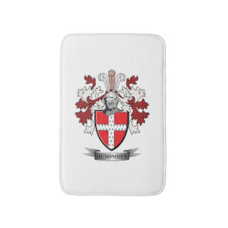 Humphrey Family Crest Coat of Arms Bath Mat
