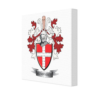 Humphrey Family Crest Coat of Arms Canvas Print