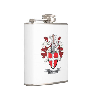 Humphrey Family Crest Coat of Arms Flask