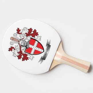 Humphrey Family Crest Coat of Arms Ping Pong Paddle
