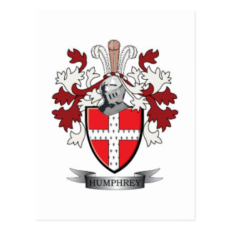 Humphrey Family Crest Coat of Arms Postcard
