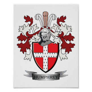 Humphrey Family Crest Coat of Arms Poster
