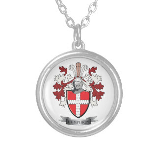 Humphrey Family Crest Coat of Arms Silver Plated Necklace