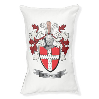 Humphrey Family Crest Coat of Arms Small Dog Bed