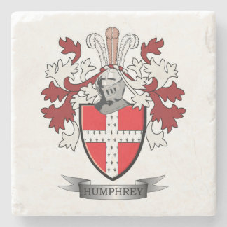 Humphrey Family Crest Coat of Arms Stone Beverage Coaster
