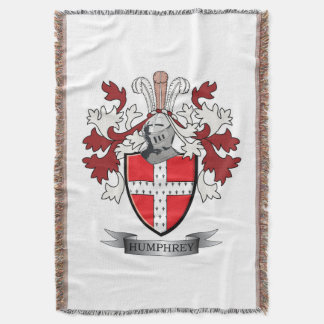 Humphrey Family Crest Coat of Arms Throw