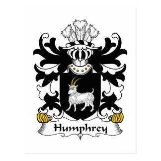 Humphrey Family Crest Postcard