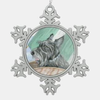 Humphrey the Scottie Pewter Snowflake Ornament