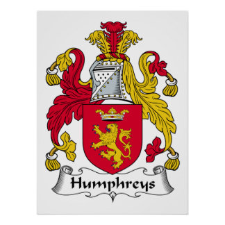 Humphreys Family Crest Poster