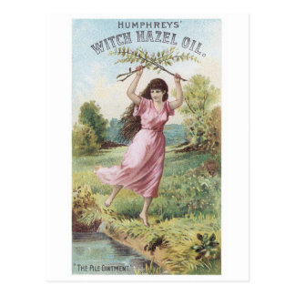 Humphrey's Witch Hazel OIl Postcard