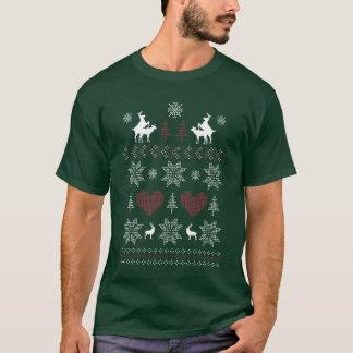 Humping Deer Ugly Christmas T Shirt