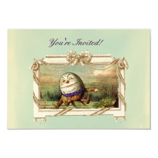 "Humpty Dumpty 3.5"" X 5"" Invitation Card"
