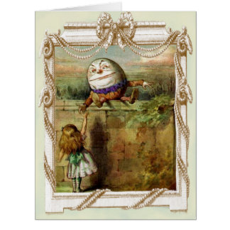Humpty Dumpty and Alice Card