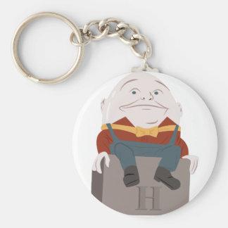 Humpty Dumpty Basic Round Button Keychain