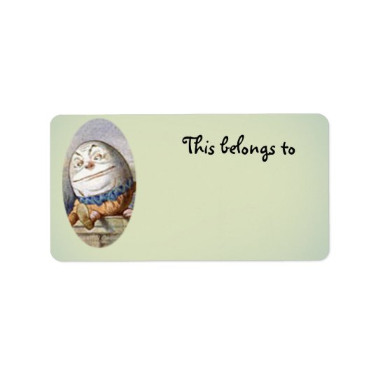 Humpty Dumpty belongs to