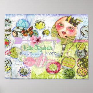 Humpty Dumpty Fairy Tale Poster Baby Nursery Art