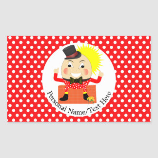 Humpty Dumpty Nursery Rhyme Cute Personalized Sticker