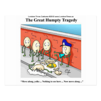Humpty Dumpty Police Investigation Funny Gifts Postcard