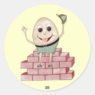 Humpty Dumpty Round Sticker