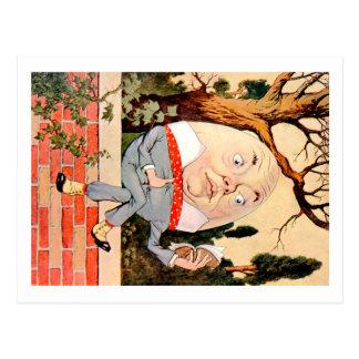 Humpty Dumpty Sat on a Wall In Wonderland Postcard