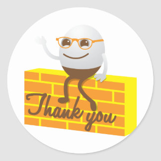 Humpty Dumpty thank you Classic Round Sticker
