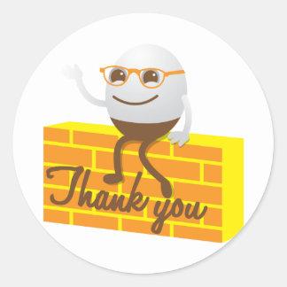 Humpty Dumpty thank you Round Sticker