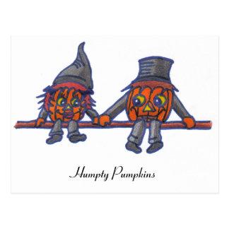 Humpty Pumpkins...postcard Postcard