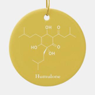 Humulone Molecule Chemistry Beer Lovers Ceramic Ornament