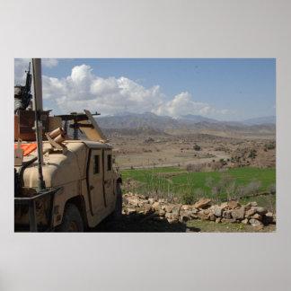 Humvee in Afghanistan Poster
