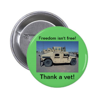 HUMVEE UNITED STATES MILITARY 2 INCH ROUND BUTTON