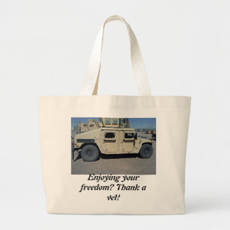 HUMVEE UNITED STATES MILITARY JUMBO TOTE BAG