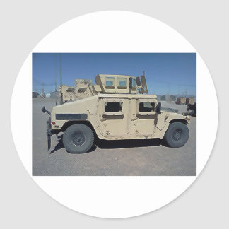 HUMVEE UNITED STATES MILITARY ROUND STICKER