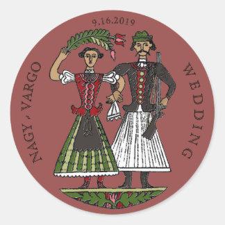 Hun Couple Chili Oil Classic Round Sticker